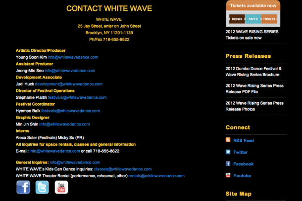 WHITE WAVE Staff